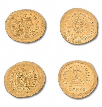 PHOCAS (602-610) Solidus. 4,48 g. Constantinople....