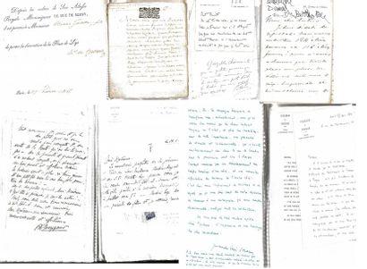 Lot de plusieurs manuscrits imprimés et autographes...