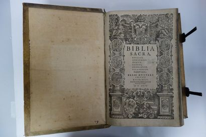 BIBLIA SACRA, Ebraice, Chaldaice, Graece, Latine, Germanice, Sclavonice.