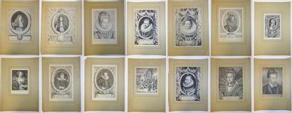 Lot de quatorze gravures du XVIIème au XIXème...