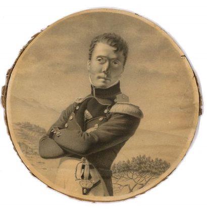 Portrait d'un officier (d'artillerie ?),...
