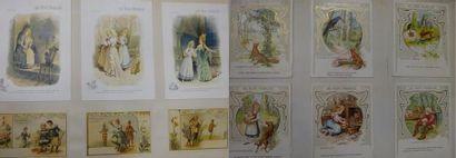 Classeur d'images et cartons du Bon Marché....