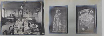 Album de photographies des peintures du réfectoire...