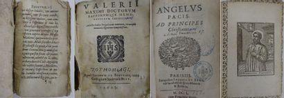 Quatre volumes in-16 du XVIIème siècle, reliures...