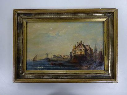 Ecole du XIXème siècle dans le goût d'Eugène ISABEY (1804-1886)