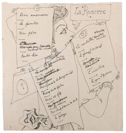 COCTEAU Jean (1889-1963) Les Parents terribles. Manuscrit autographe complet. Montargis,...