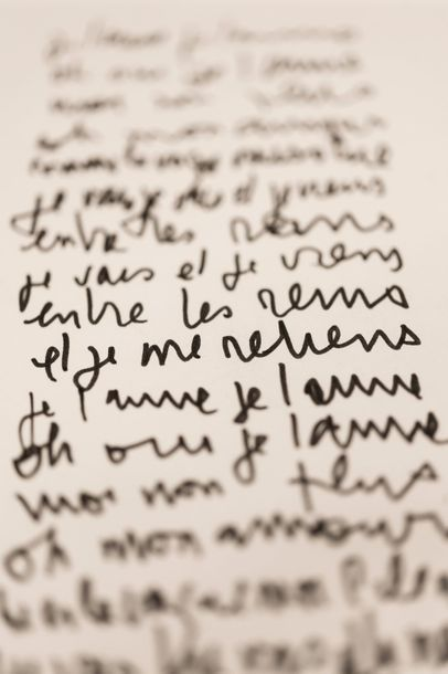 GAINSBOURG Serge (1928-1991) Je T'aime Moi Non Plus. Manuscrit autographe signé [1967]....