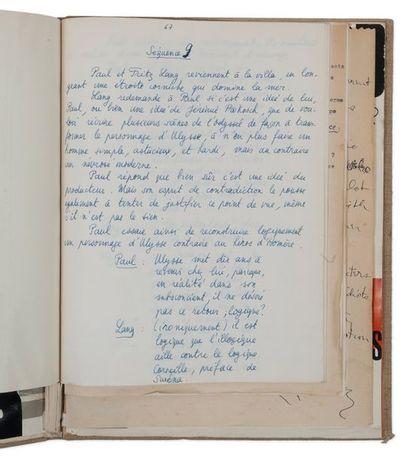 GODARD JEAN-LUC (1930) Le Mépris. Manuscrit autographe et tapuscrit corrigé. Avril-juin...
