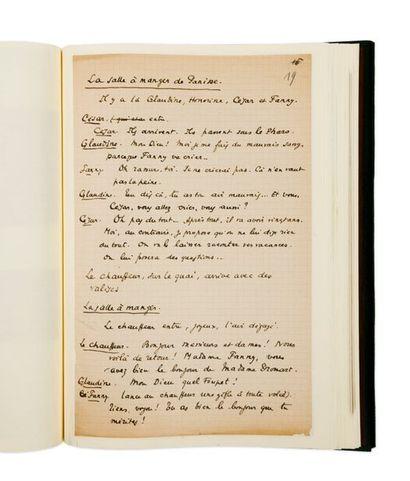 PAGNOL MARCEL (1895-1974) César. Manuscrit autographe et tapuscrit corrigé. Circa...