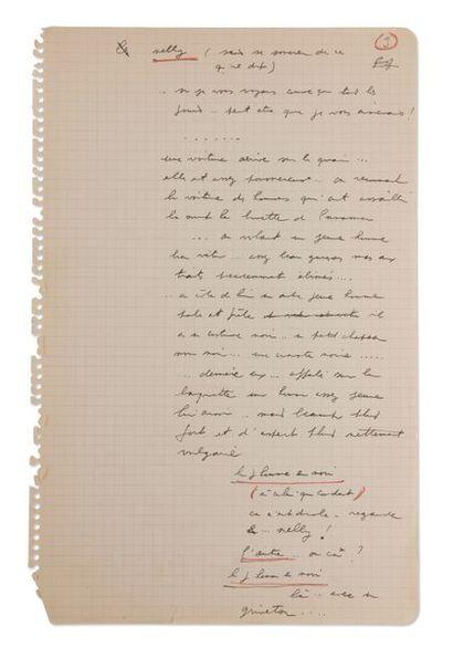 PREVERT Jacques (1900-1977) Le Quai des Brumes. Manuscrit autographe du scénario...