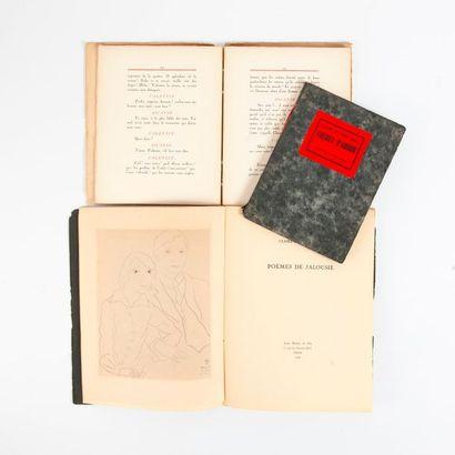Ensemble de livres comprenant :  - Max JACOB...