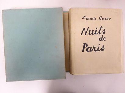 Francis CARCO. 1886-1958.