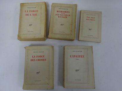 Simone de BEAUVOIR  - L'invitée. 1943. In-12....