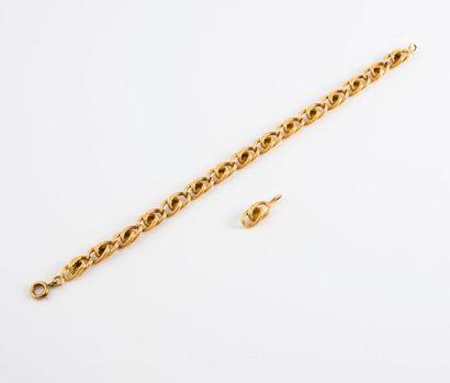 Bracelet articulé en or jaune (750) à maille...