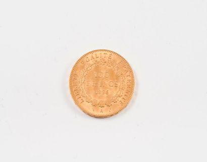 FRANCE  Pièce de 100 Francs or, IIIème république,...