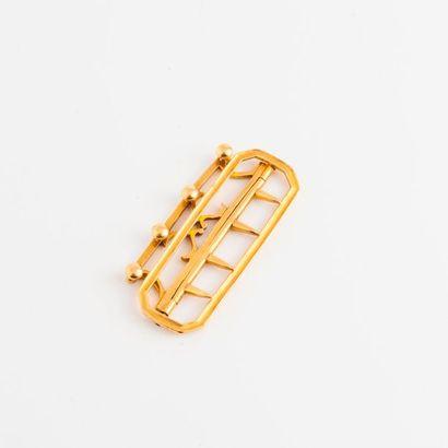 Boucle de ceinture en or jaune (750).  Vers...