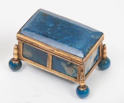 Petite boîte rectangulaire à cage en cuivre...