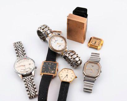 Lot de montres bracelet diverses en métal...