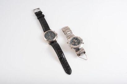 Lot de deux montres :  Eric CHEVILLARD  Montre...