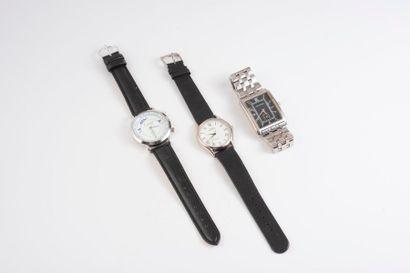 Lot de trois montres bracelet d'homme :  -...