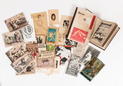 Lot divers de cartes postales, prospectus,...