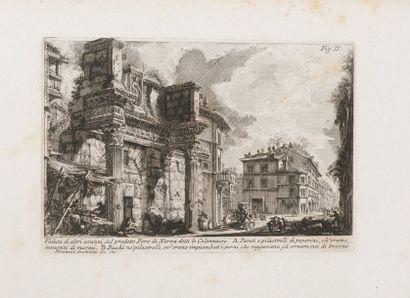Giovanni-Battista PIRANESI (1720-1778) ANTICHITA ROMANE. Ensemble de 51 gravures...