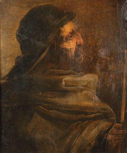 Jan van de VENNE (Malines avant 1600-Bruxelles, après 1651) Villageois de profil...
