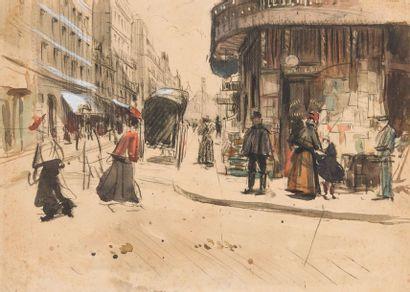 Attribué à Jean-Louis FORAIN (1852-1931)