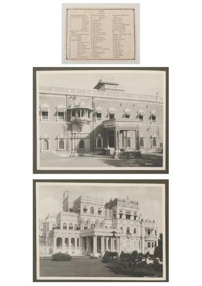 Album de photos d'Inde, dont palais du Maharaja...