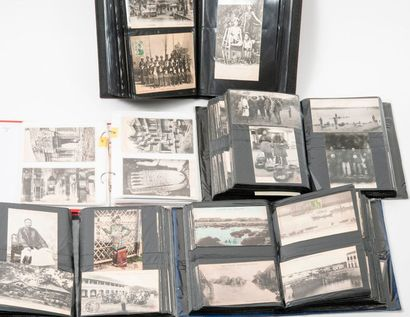 Lot de 12 albums de cartes postales sur l'empire...