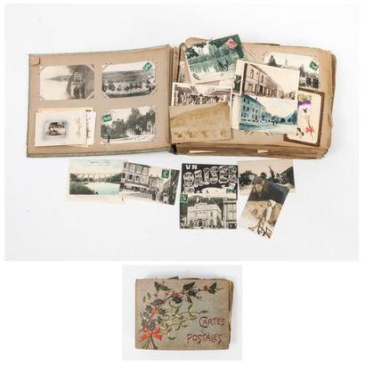 Album de cartes postales anciennes dont monuments,...