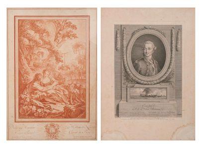 Deux gravures :  - D'après François BOUCHER....