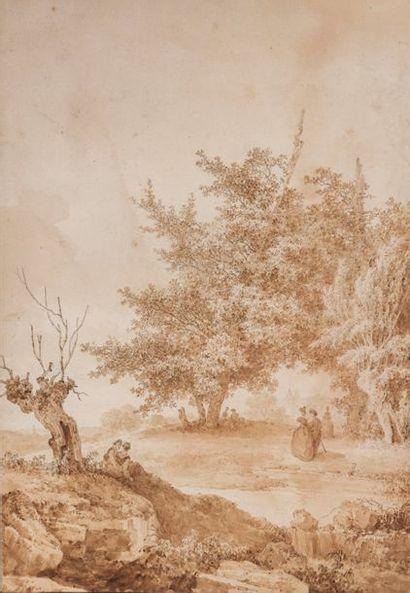 Jean-Baptiste HILAIRE (Audun-le-Tiche (près de Metz) 1753-Paris après 1822) Vue de...
