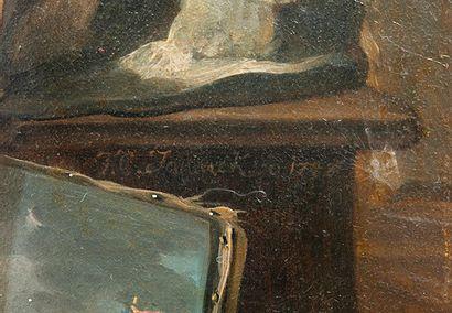 Frans Christophe JANNECK (Graz (Autriche) 1703-Vienne 1761) 1 - L'Atelier du peintre....
