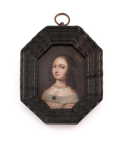 ECOLE FRANCAISE de la seconde moitié du XVIIème siècle Portrait présumé de Ninon...