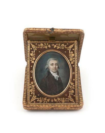 Ecole française du dernier quart du XVIIIème siècle Portrait d'homme légèrement de...