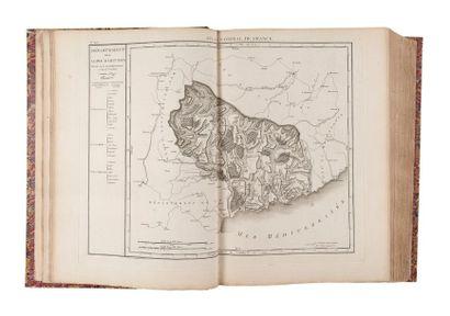 ATLAS national de France décrété le 25 janvier 1790. S.l.,s.d., in-folio, demi-rel....