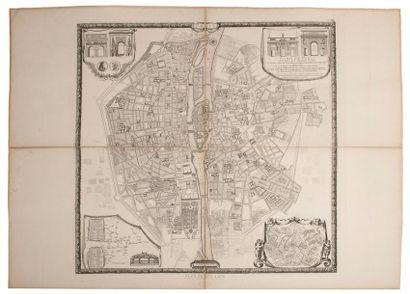 CARTES Ensemble de cartes, calques et divers: - Plan de Bullet et Blondel. 1676....