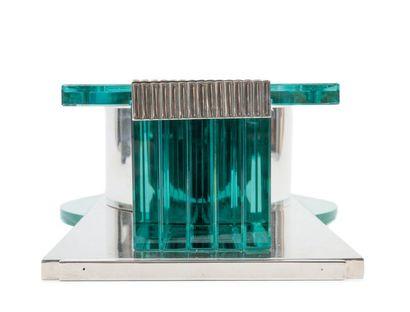 Jean-Elisée PUIFORCAT (1897-1945) Surtout de table de forme rectangulaire, la monture...