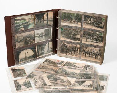 Album de cartes postales anciennes principalement...