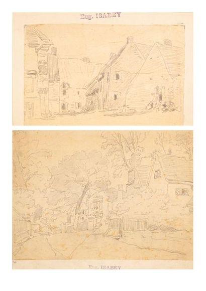 Attribués à Eugène ISABEY (1804-1886)
