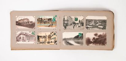 Album de cartes postales notamment de paysages,...