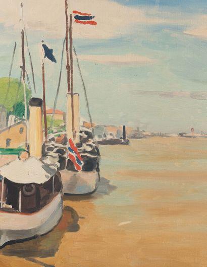 Albert MARQUET (1875 - 1947) Le Danube à Sulina, vers 1931 - 1933 (?) Huile sur toile,...