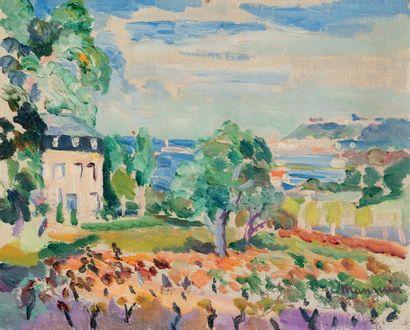 Henri Charles MANGUIN (1874 - 1949) Saint-Tropez, Château Martin, automne 1919 Huile...