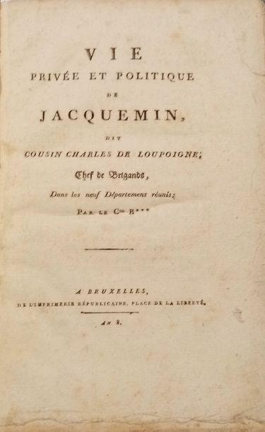 BARAFIN  Vie privée et politique de Jacquemin, dit Cousin Charles de Loupoigne,...