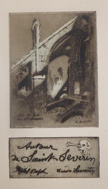 PARIS (75) – ÉGLISE SAINT-SÉVERIN, début XXe. DUPRÉ Michel (1886-1971) et LAURENTIN...