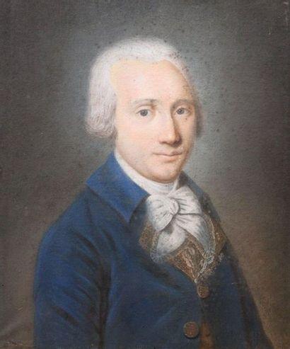 Ecole française du XVIII-ème Siècle: «Portrait...