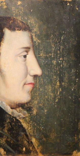 Ecole du XVIII ou XIX-ème Siècle: «Portrait...