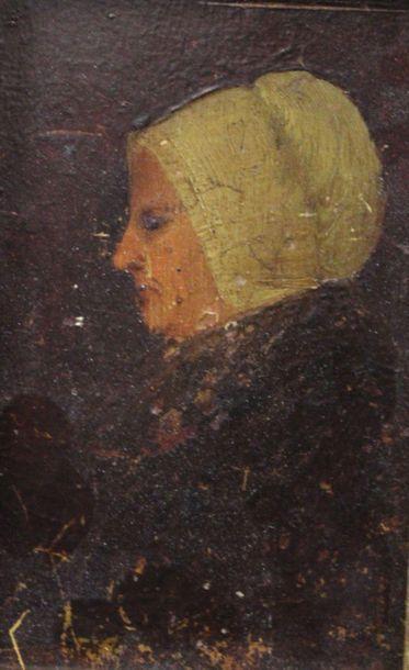 Ecole du XIX-ème Sièle: «Portrait de femme...