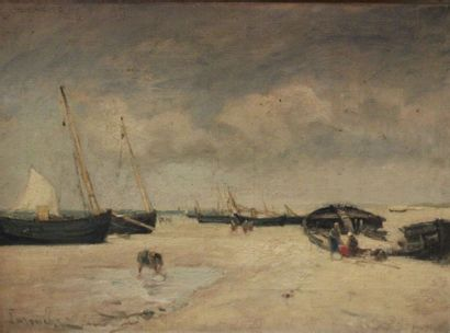 Louis LATOUCHE (1829-1884): «Bateaux de...
